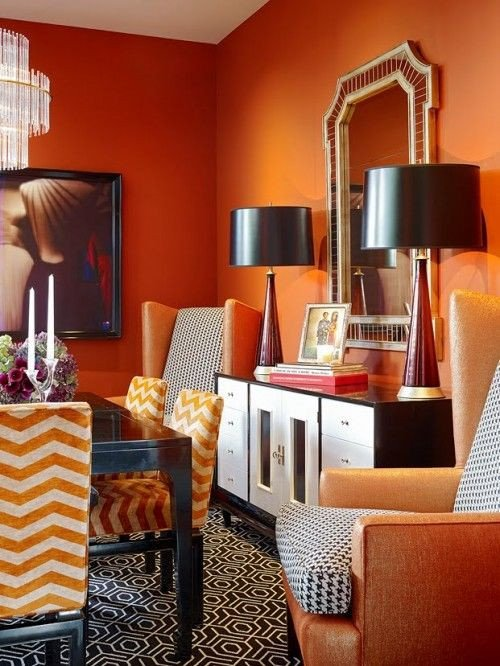 Orange Decor for Living Room Awesome Best 25 orange Rooms Ideas On Pinterest