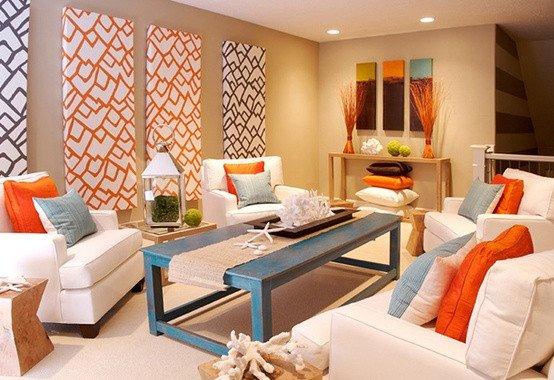 Orange Decor for Living Room Best Of Modern Coastal Decor