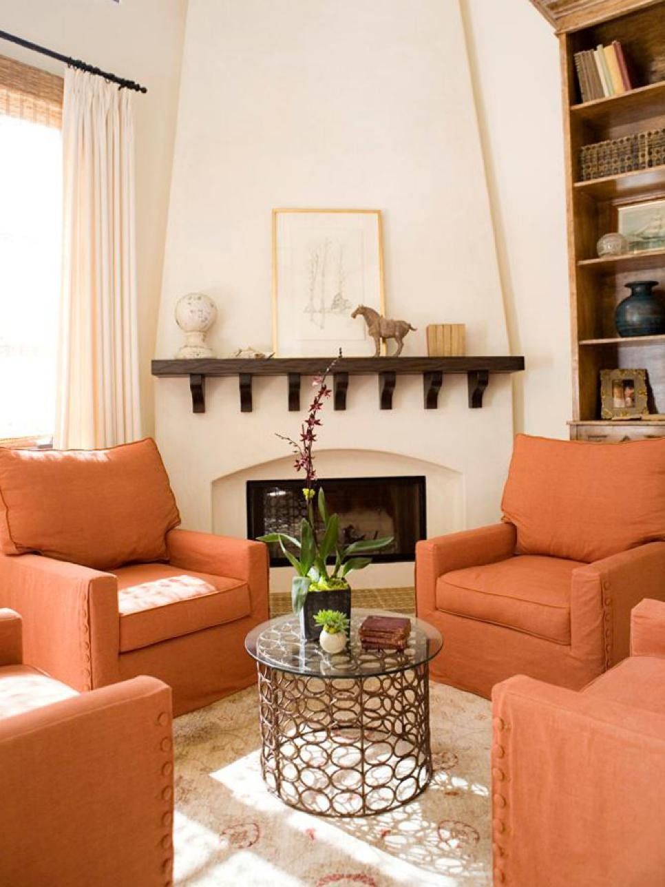 Orange Decor for Living Room Best Of orange Design Ideas