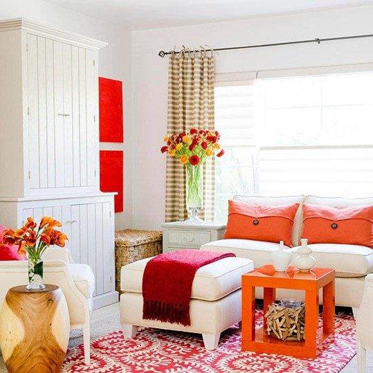 Orange Decor for Living Room Elegant Pink and orange Living Room Design Ideas &