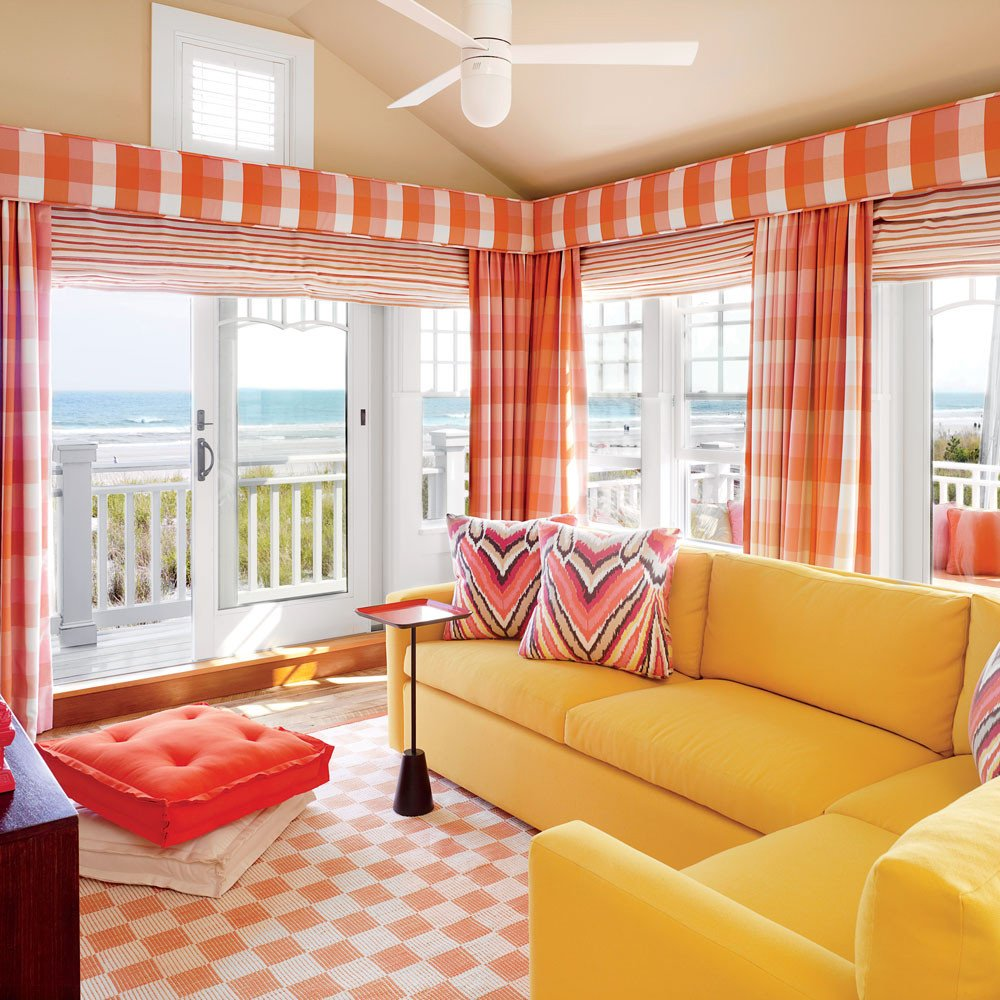 Orange Decor for Living Room Unique 20 Ways to Decorate with orange and Yellow Coastal Living