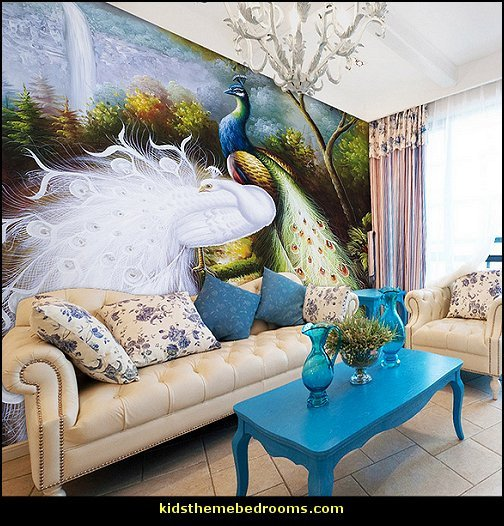 Peacock Decor for Living Room Best Of Decorating theme Bedrooms Maries Manor Peacock theme