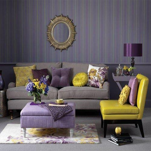 Purple Decor for Living Room Awesome Home Quotes theme Design Purple and Gold Color Bination