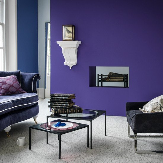 Purple Decor for Living Room Beautiful Purple Modern Living Room