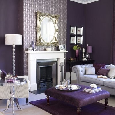 Purple Decor for Living Room Elegant Purple Living Room Design