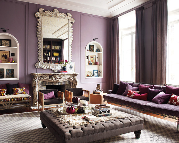 Purple Decor for Living Room Elegant Purple Passion Wednesday Glamorous Living Room Decor by