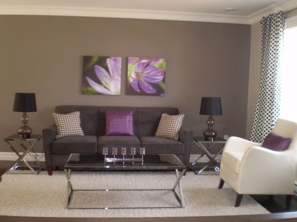 Purple Decor for Living Room Lovely Gray and Purple Living Rooms Ideas