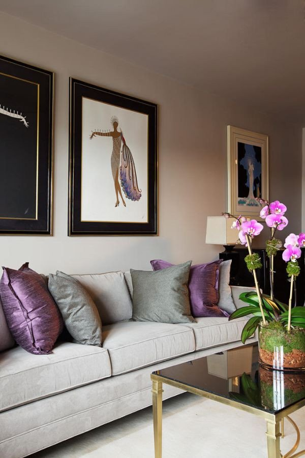 Purple Wall Decor Living Room Awesome How to Use Purple In Stunning Looking Living Rooms