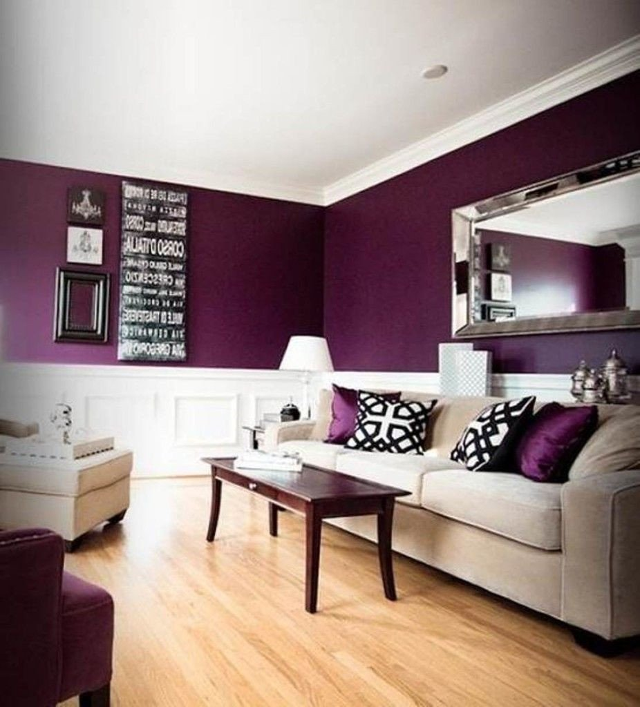 Purple Wall Decor Living Room Awesome What Color Go Good with Purple for House Check It Out