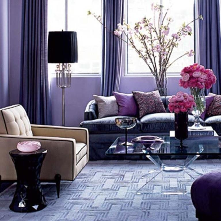 Purple Wall Decor Living Room Beautiful 20 Dazzling Purple Living Room Designs Rilane
