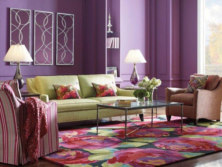 Purple Wall Decor Living Room Elegant 18 Purple Living Room Designs Ideas