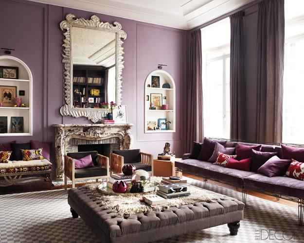 Purple Wall Decor Living Room Fresh Purple Passion Wednesday Glamorous Living Room Decor by