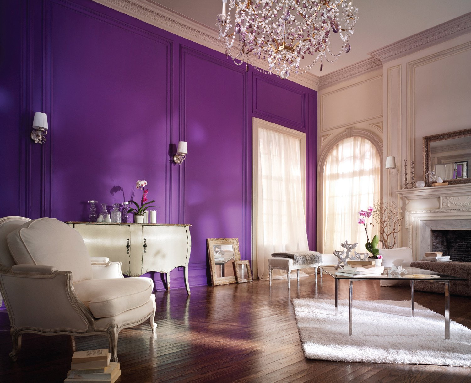 Purple Wall Decor Living Room Inspirational Purple Wall Paint the Variants