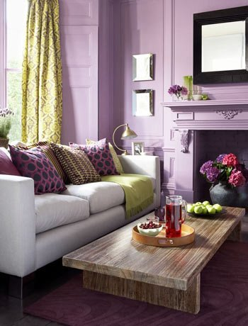 Purple Wall Decor Living Room Lovely Color Inspiration – Purple Green and Teal