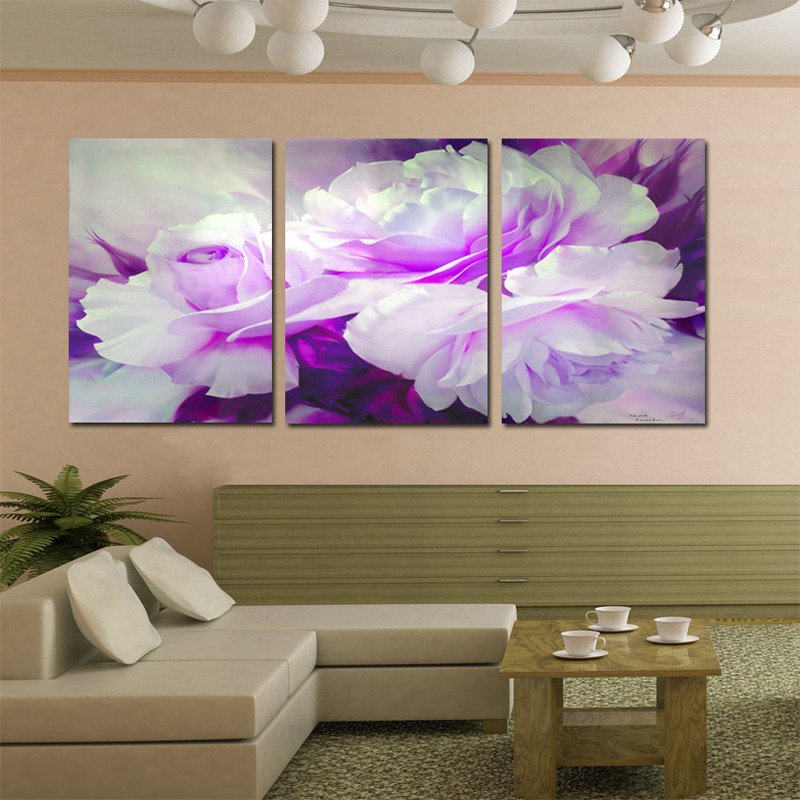 Purple Wall Decor Living Room Lovely Wall Art Home Decor Purple Flower Wall for Living