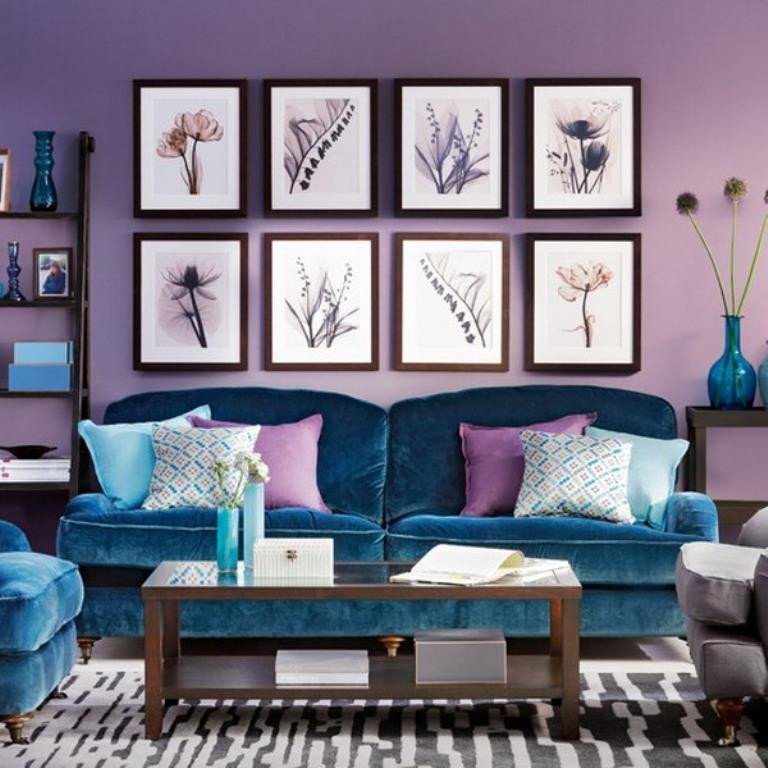 Purple Wall Decor Living Room Luxury 20 Dazzling Purple Living Room Designs Rilane