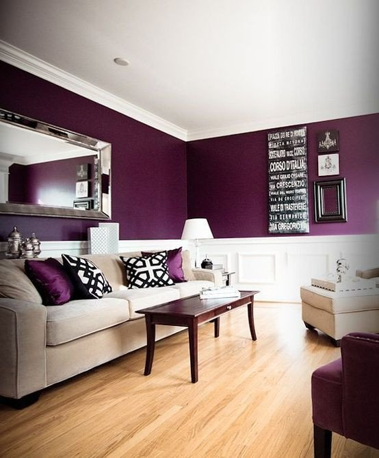 Purple Wall Decor Living Room Unique Color Of New Accent Wall In My Bedroom Possible