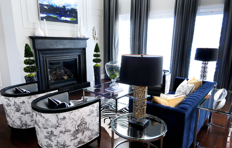 Royal Blue Living Room Decor Beautiful Black and White with Royal Blue Decor Native Home Garden