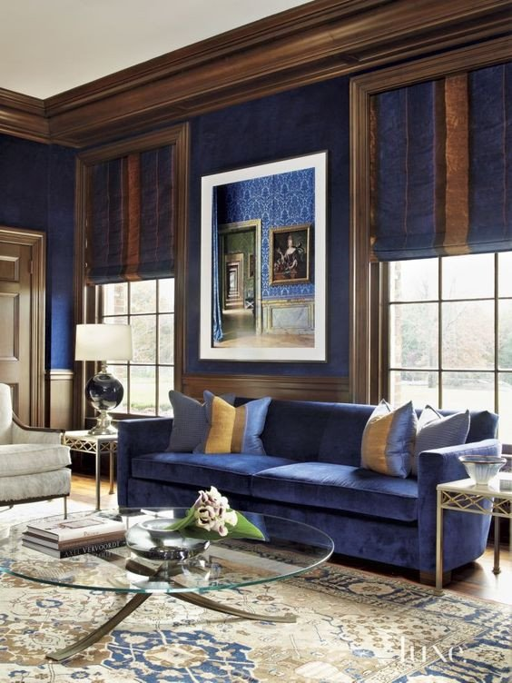 Royal Blue Living Room Decor Fresh 33 Cool Brown and Blue Living Room Designs Digsdigs