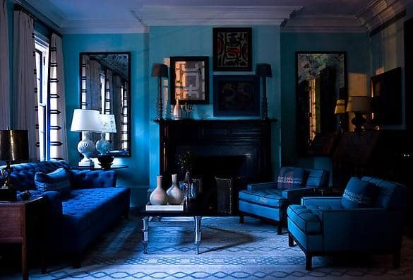 Royal Blue Living Room Decor Inspirational Design Dilemma Monochromatic Rooms