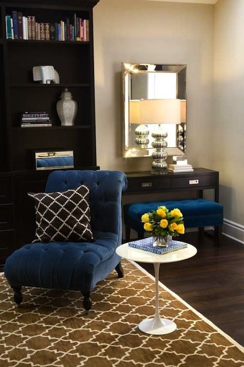 Royal Blue Living Room Decor Inspirational Turquoise La – Royal Blue & Chocolate Brown Chic Living