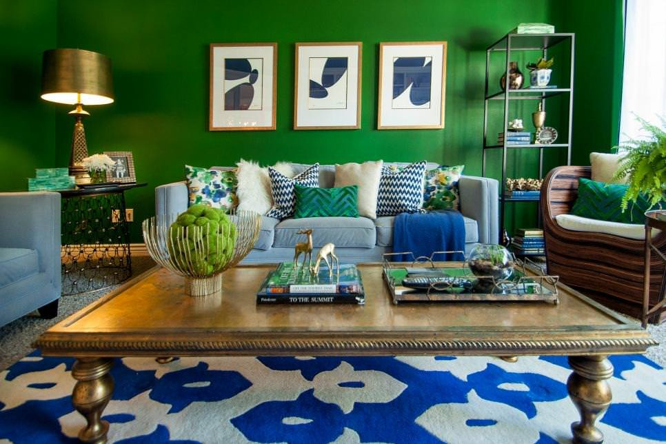 Royal Blue Living Room Decor Lovely 21 Green Living Room Designs Decorating Ideas
