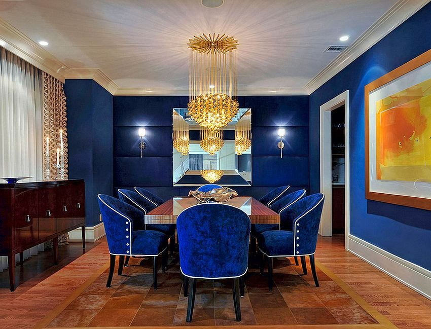 Royal Blue Living Room Decor Unique Blue Dining Rooms 18 Exquisite Inspirations Design Tips