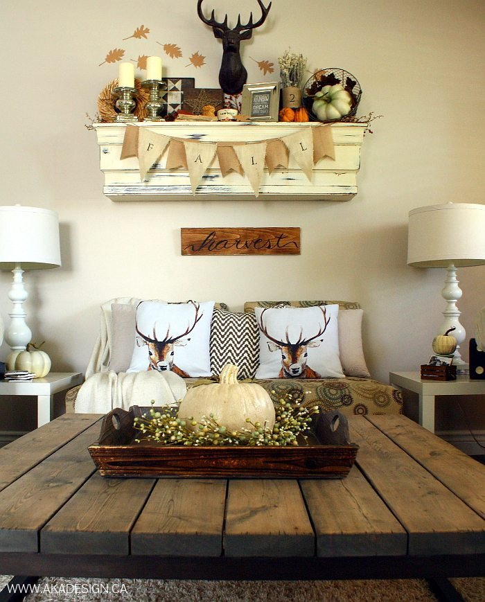 Rustic Chic Decor Living Room Inspirational Rustic Chic Fall Mantel