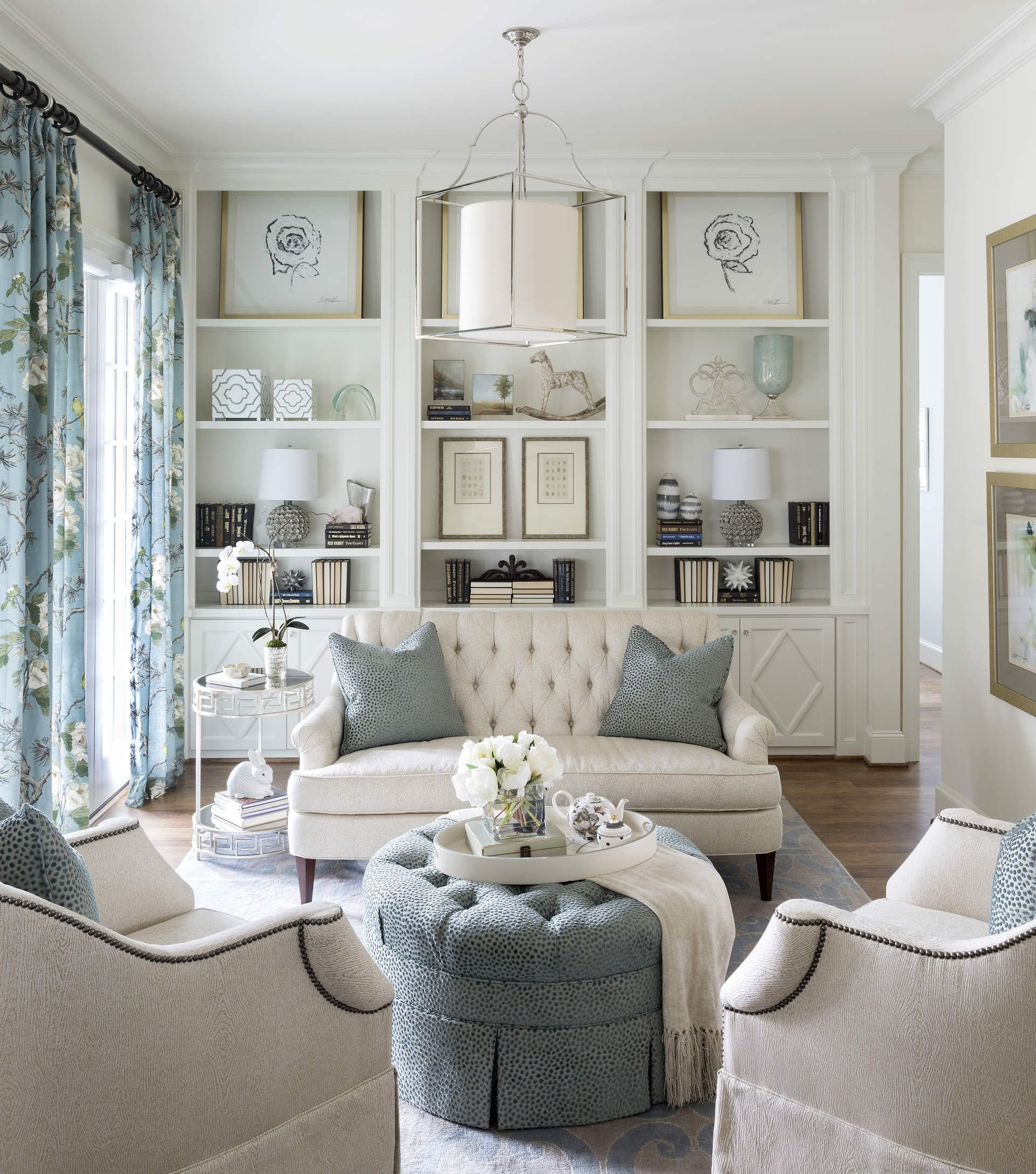 White Living Room Decor Ideas Inspirational fort Worth Georgian southern Home Magazine