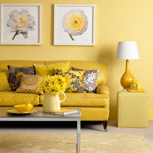 Yellow Decor for Living Room Inspirational Sunny Yellow Living Room Design Ideas