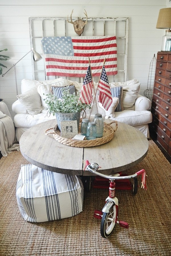 4th of July Decor In the Living Room Liz Marie Blog