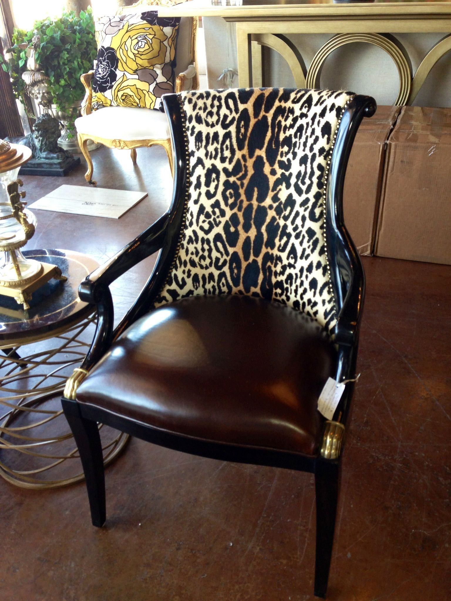 Animal Print Furniture Home Decor Beautiful Brittnay Blake Interiors Houston Animal Print Leather and Nailhead Trim