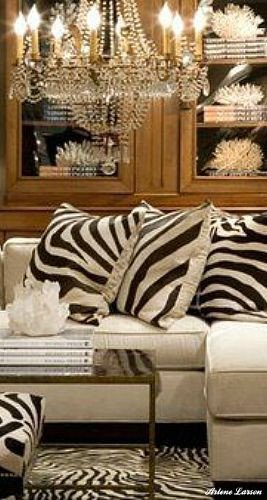 Animal Print Furniture Home Decor Unique Gorgeous White Sectional sofa with Zebra Pillows Love the Chandelier Along with Coral and