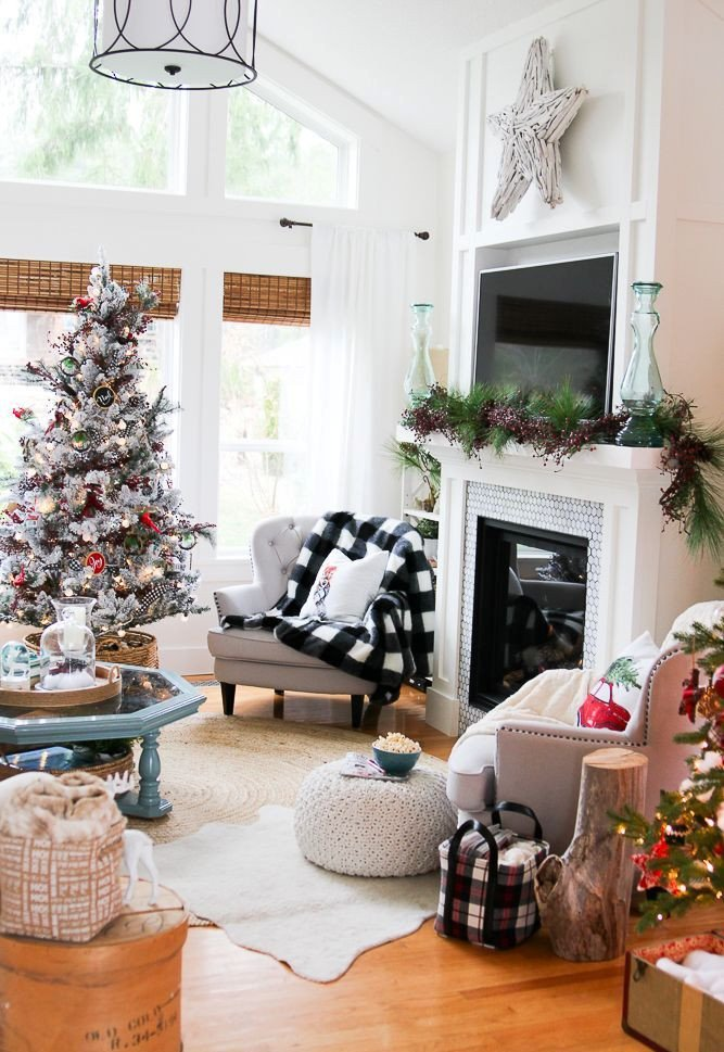 Apartment Living Room Decor Ideas Elegant 50 Christmas Living Room Decor Ideas