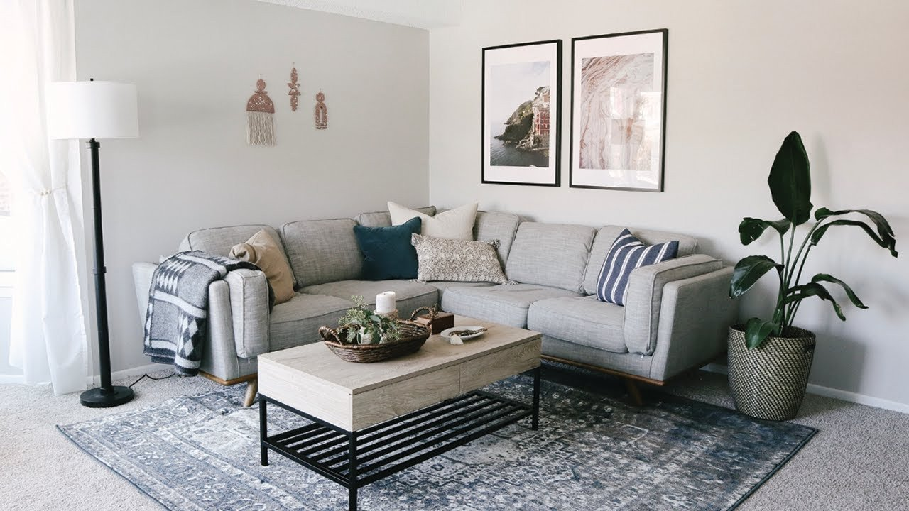 Apartment Living Room Decorating Awesome Living Room Apartment Makeover • Laying Out Furniture Tips & Decorating Ideas