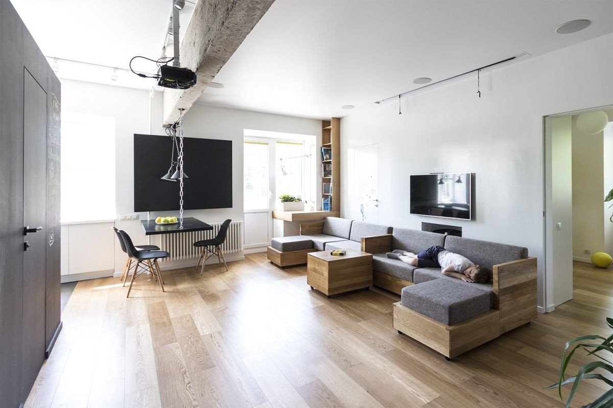 Apartment Living Room Ideas Best Of Flexible Family Apartment Full original Design solutions
