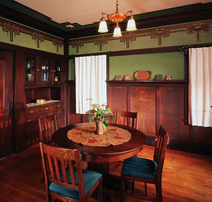 Arts and Crafts Home Decor Beautiful Arts and Crafts Bungalow Interiors Arts & Crafts Dining Room