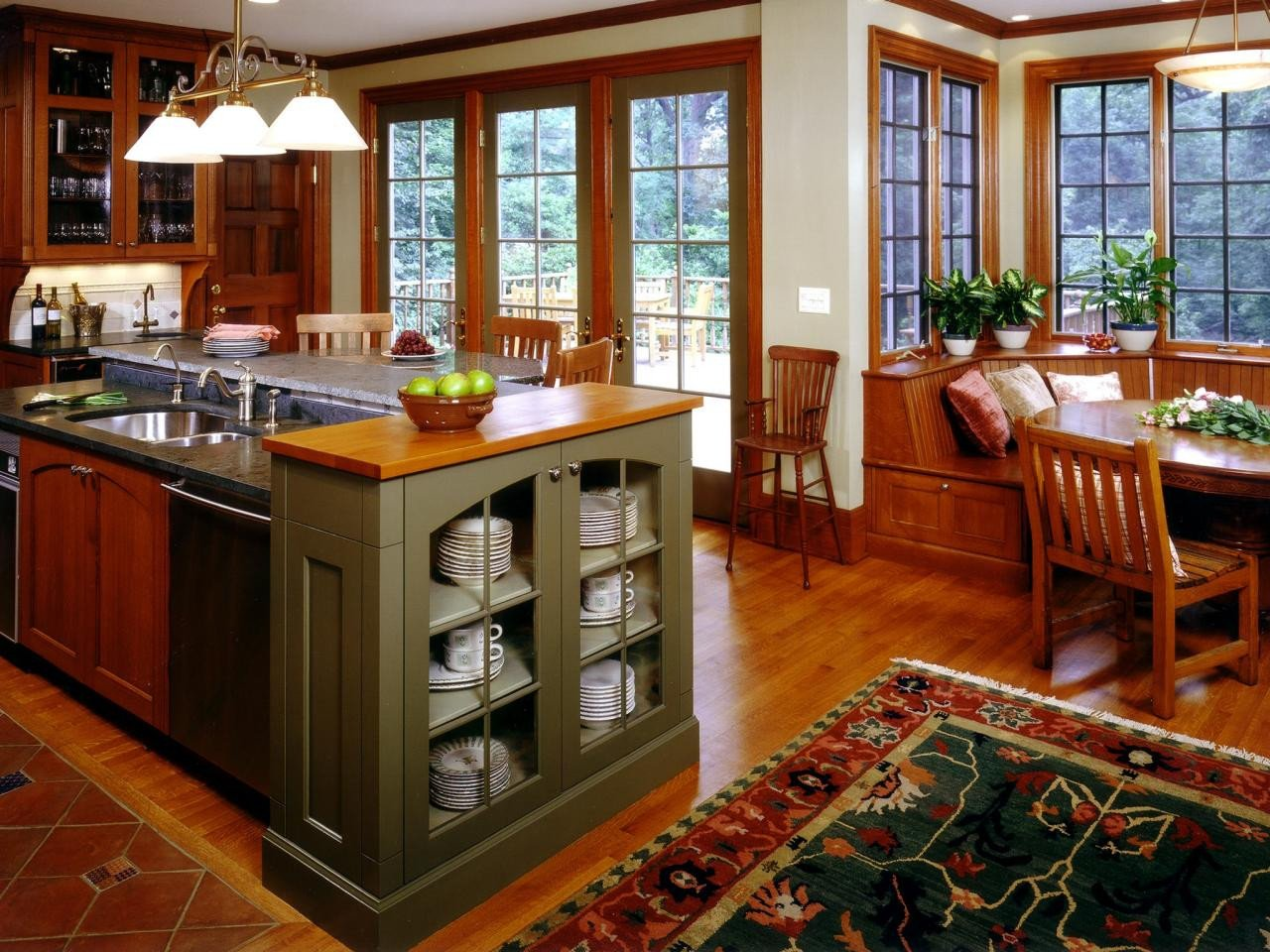 Arts and Crafts Home Decor Lovely Craftsman Style Kitchen Cabinets Hgtv & Ideas