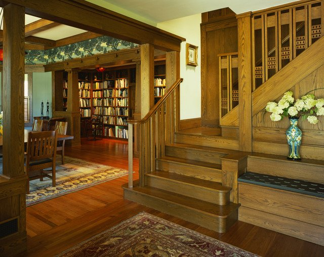 Arts and Crafts Home Decor New Tropical Craftsman Craftsman Staircase Dc Metro by Gardner Mohr Architects Llc