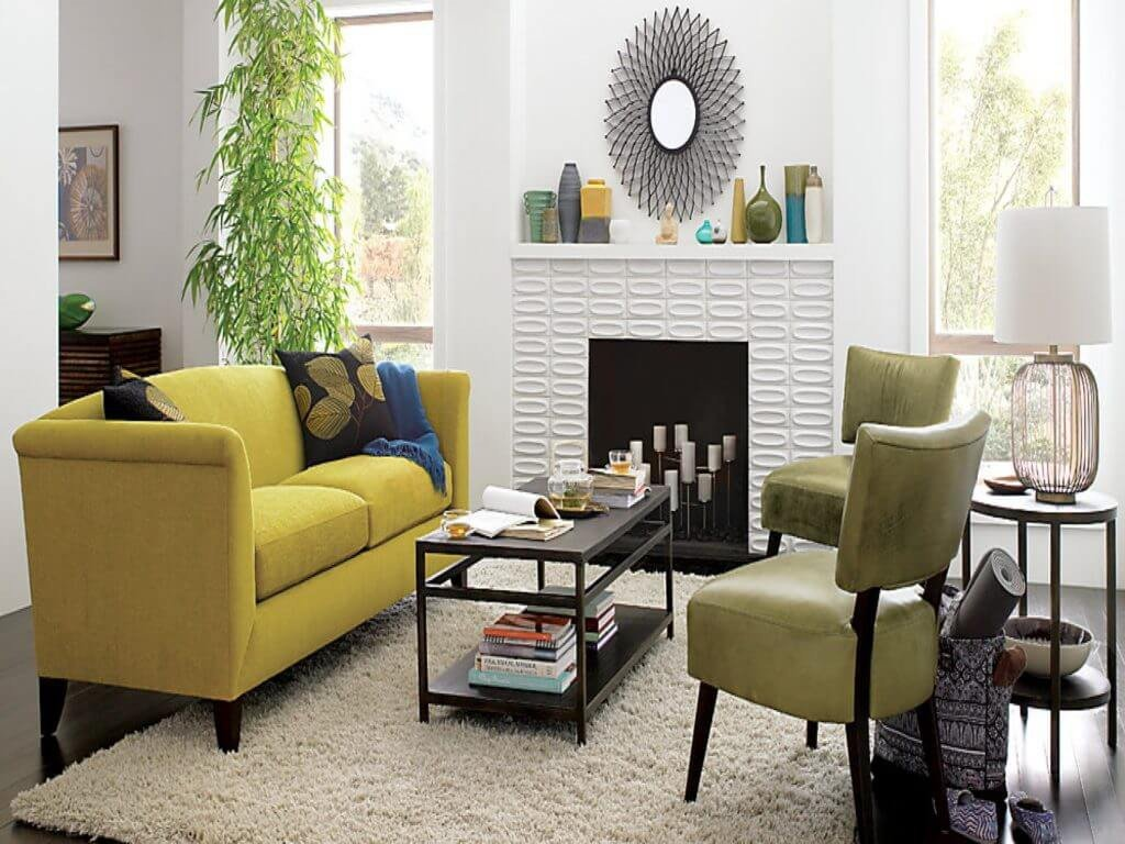 Awesome Small Living Room Ideas Fresh Awesome Small White Living Room Interior Design Ideas with Yellow Leather sofa Furniture Yellow