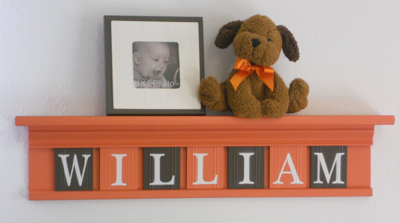 Baby Boy Nursery Wall Decor Awesome orange and Brown Baby Boy Nursery Wall Decor by Nelsonsgifts