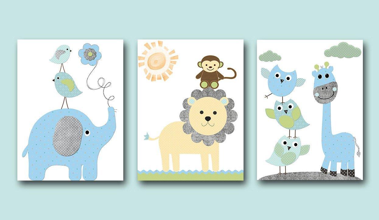 Baby Boy Nursery Wall Decor Best Of Baby Boy Nursery Wall Decor Kids Wall Art Kids Art Giraffe