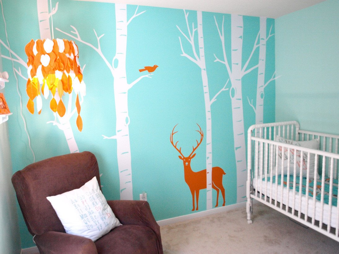 Baby Boy Nursery Wall Decor Luxury Jungle themed toddler Room Decorating with Olive Green sofa Decorating with Olive Green sofa