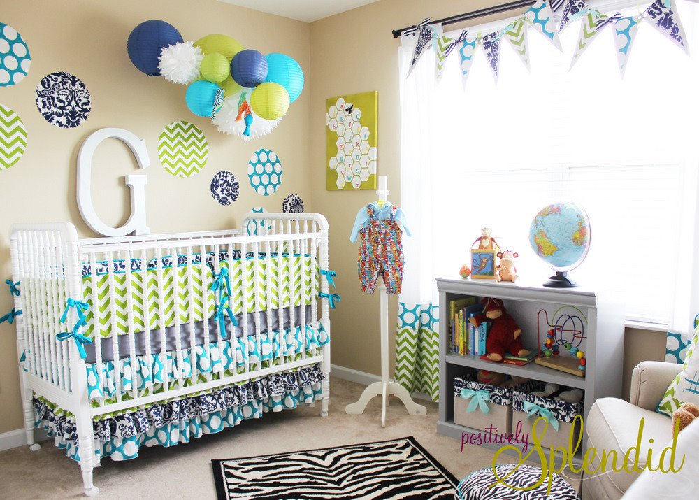 Baby Boy Room Decor Ideas Luxury Baby Boy Nursery tour Positively Splendid Crafts Sewing Recipes and Home Decor