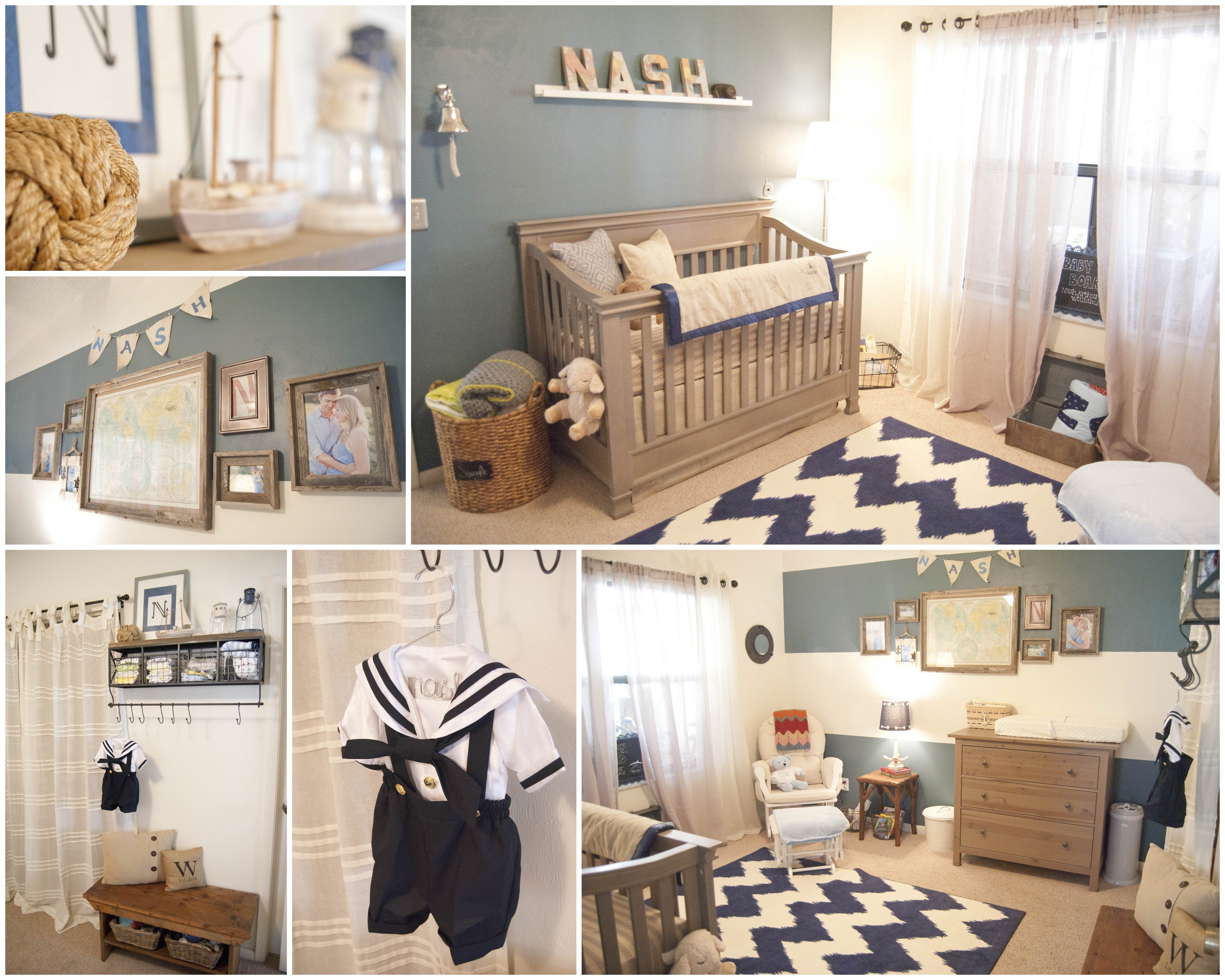 Baby Boy Room Decor Ideas New Baby Nash S Vintage Nautical Nursery Project Nursery