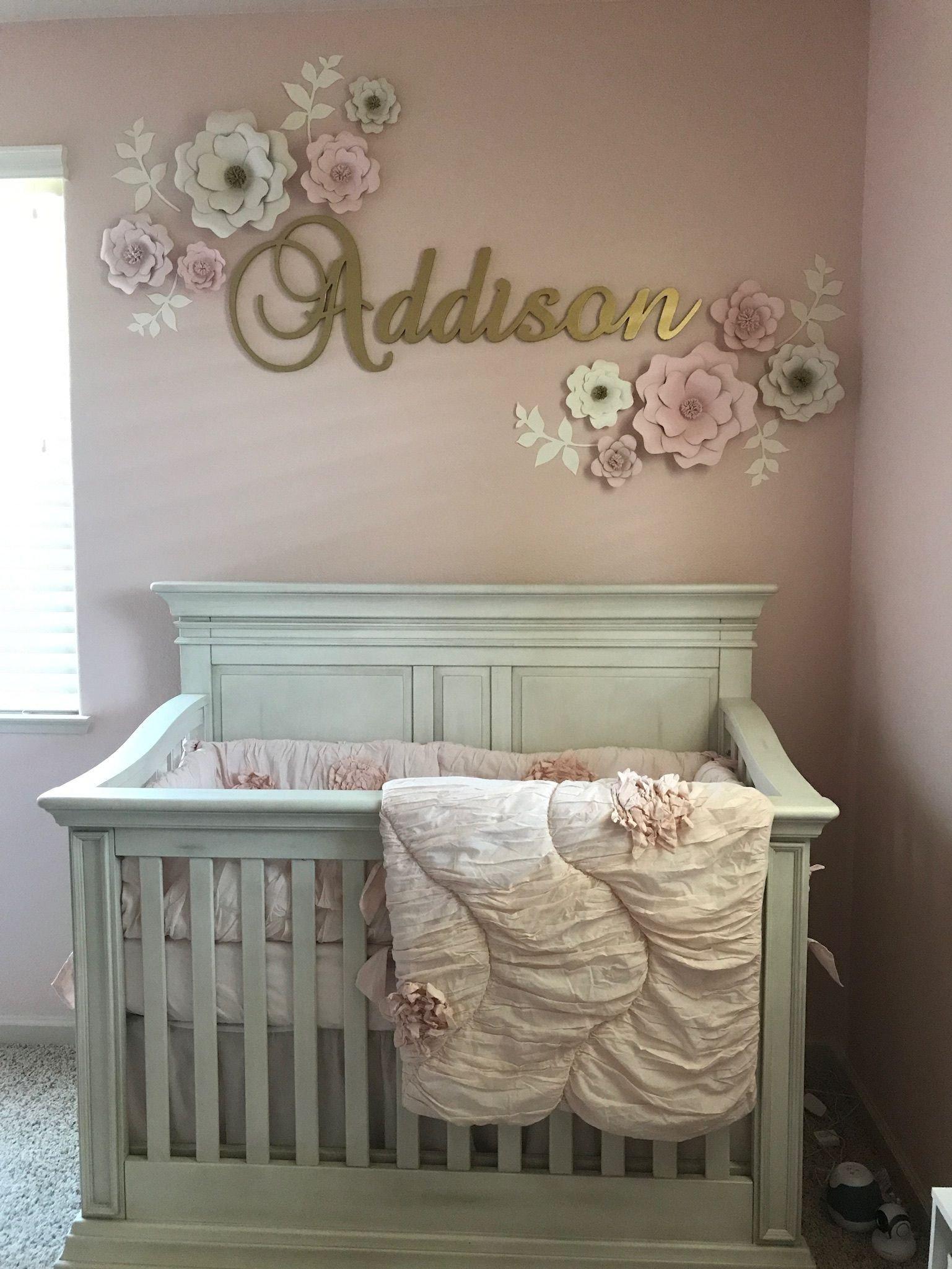 Baby Girl Nursery Decor Ideas Elegant Baby Girl Nursery with Pink and Gold theme Baby Girl Nursery Pinterest
