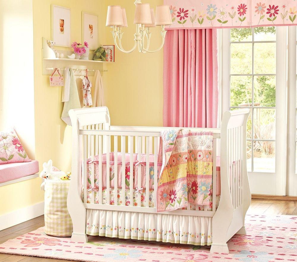 Baby Girl Nursery Decor Ideas Fresh Nice Pink Bedding for Pretty Baby Girl Nursery From Prottery Barn