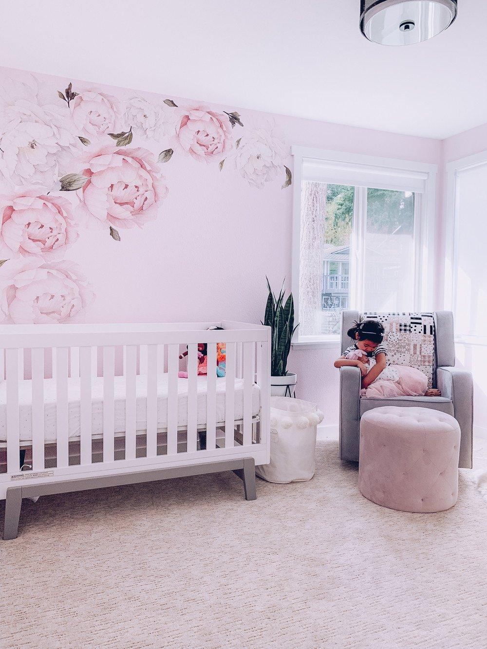 Baby Girl Nursery Decor Ideas Fresh Nursery Reveal Pink and Gray Floral Nursery Decor