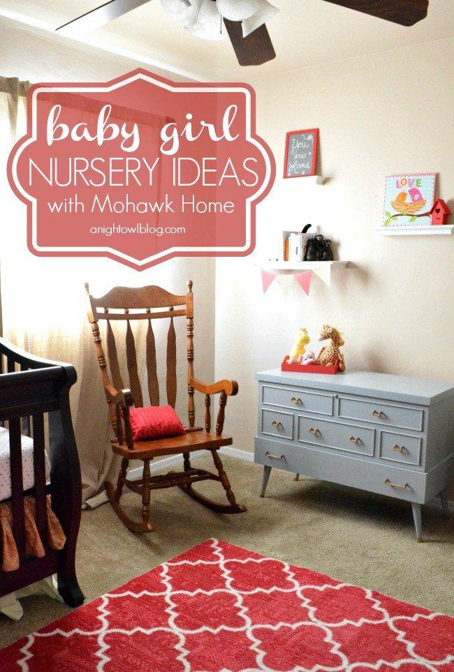 Baby Girl Nursery Decor Ideas New Baby Girl Nursery Ideas with Mowhawk Home A Night Owl Blog