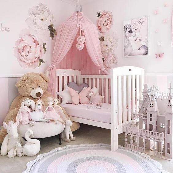 Baby Girl Room Decor Ideas Awesome 50 Inspiring Nursery Ideas for Your Baby Girl Cute Designs You Ll Love